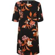 Vero Moda 3/4 Sleeved Flower Dress Black/Black