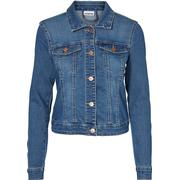 Noisy May Short Denim Jacket - Blue/Medium Blue Denim