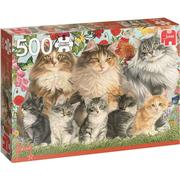 Jumbo Francien Cat Family 500 Pieces