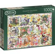 Jumbo Falcon Country Calendar 1000 Pieces