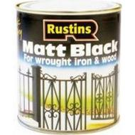 Metal Paint Metal Paint price comparison Rustins Quick Dry Black Matt Wood Paint, Metal Paint Black 0.25L