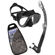 Snorkel Snorkel Cressi Big Eyes Evolution & Alpha Ultra Dry