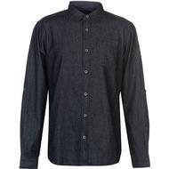 Skjortor Herrkläder SoulCal LS Denim Shirt Indigo Wash