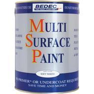 Metal Paint Metal Paint price comparison Bedec Multi Surface Wood Paint, Metal Paint White 0.75L