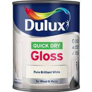 Metal Paint Metal Paint price comparison Dulux Quick Dry Gloss Wood Paint, Metal Paint White 0.75L