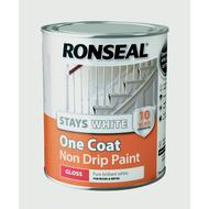 Wood Paint Wood Paint price comparison Ronseal Stays White One Coat Non Drip Wood Paint White 0.75L