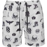Herrkläder Firetrap Blackseal AOP Swim Shorts White