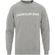 Sweatshirt Herrkläder Calvin Klein Logo Sweatshirt Grey Heather
