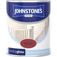 Metal Paint Metal Paint price comparison Johnstones Non Drip Gloss Wood Paint, Metal Paint Red 0.25L