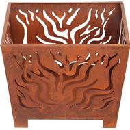 Bålsted Bålsted Esschert Design Fire Basket Square Rust S FF161