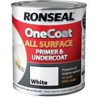 Wood Paint Wood Paint price comparison Ronseal One Coat All Surface Primer & Undercoat Wood Paint, Metal Paint White 0.75L
