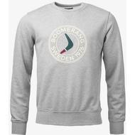 Sweatshirt Herrkläder Boomerang Sweat Crew Neck - Lt Grey Melange