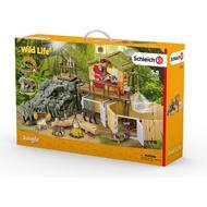 Toys price comparison Schleich Croco Jungle Research Station 42350