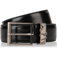 Bälte Herrkläder Gucci Snake Leather Belt Black Leather
