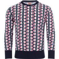 Herrkläder Champion Allover C Logo Print Reverse Weave Sweatshirt - Dark Turquoise