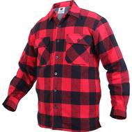 Skjortor Herrkläder Rothco Extra Heavyweight Buffalo Plaid Sherpa-lined Flannel Shirts Red