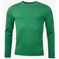 Herrkläder Boomerang Sandler Organic O-Neck Sweater - Racing Green