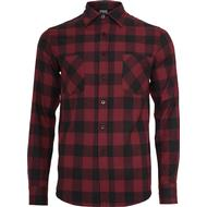 Flanell Shirt Herrkläder Urban Classics Checked Flanell Shirt - Black/Burgundy
