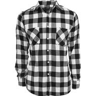 Skjortor Herrkläder Urban Classics Checked Flannel Shirt - Black/White
