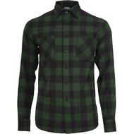 Skjortor Herrkläder Urban Classics Checked Flannel Shirt - Black/Forest
