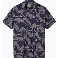 Skjortor Herrkläder Minimum Emanuel Short Sleeved Shirt - Navy Blazer