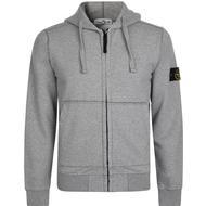 Koftor och Tröjor Herrkläder Stone Island Badge Zip Hooded Sweatshirt - Grey V1064