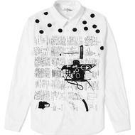 Herrkläder Comme des Garçons x Jean Michel Basquiat Printed Shirt - White