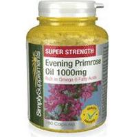 Simply Supplements Super Strength Evening Primrose Oil 1000mg