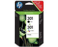 HP - Hewlett Packard Combo HP 301 sort + farve blækpatron 6ml J3M81AE/N9J72AE original
