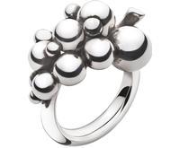 Georg Jensen Moonlight Grapes Silver Ring - (3558680)