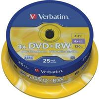 Verbatim DVD+RW 4.7GB 4x Spindle 25-Pack