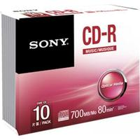 Sony CD-R 700MB Jewelcase 10-Pack