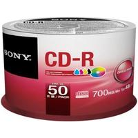 Sony CD-R 700MB 48x Spindle 50-Pack InkJet