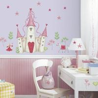 Wallsticker med prinsesseslot