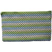 LT-design baby tæppe bomuld blå og grøn 69x77cm