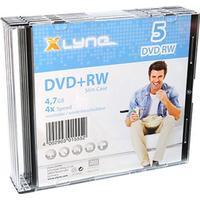 Xlyne DVD+RW 4.7GB 4x Slimcase 5-Pack