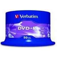 Verbatim DVD+R 4.7GB 16x Spindle 50-Pack