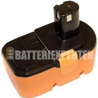 Ryobi Batteri till Ryobi R10530, 18V, 3000 mAh