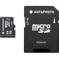 AgfaPhoto Mobile High Speed 64GB MicroSDXC Class 10 + Adapter