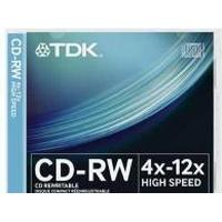 TDK CD-RW 700MB 12x Jewelcase 10-Pack