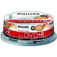 Philips DVD-R 8.5GB 2.4x Spindle 25-Pack Inkjet