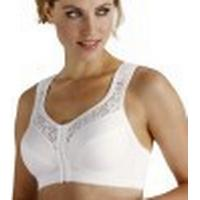 Miss Mary of Sweden Soft Cup Bra with Front Closure White (2158)