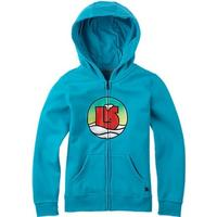 Burton Circle Logo Full Zip, Girl, Shorebreak