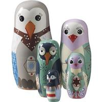 Superliving Bird family babushkadockor multi 5-pack