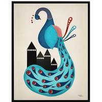 Michelle Carlslund Peacock 30x40cm Affisch