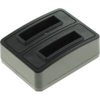 Dubbelladdare för 2 batterier Samsung SLB-0737 och SLB-0837