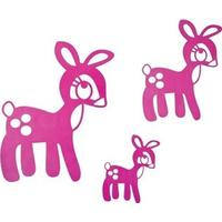 Pink bambi wallstickers, Sebra