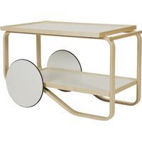 Tea Trolley 901 - Birch/White Laminate