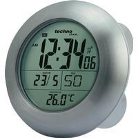Techno Line DCF Väggklocka Techno Line WT 3000 17.2 cm x 5.4 cm Silver Lämpliga för badrum/våtutrymmen