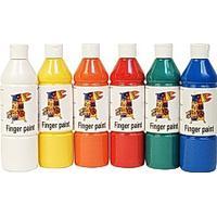 Fingerfärg 500mlx6 färger